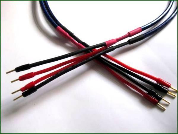 オーディオテクニカ AT-EA1000 スピーカーケーブル1m×2本端子付_画像1