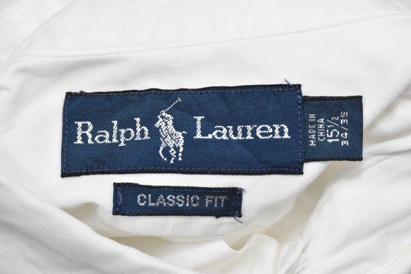 ポロ ラルフローレン ボタン ダウン シャツ 白 オックスフォード 綿100% Polo Ralph Lauren /6647 501 101 505 00 606 511 503 200_画像2