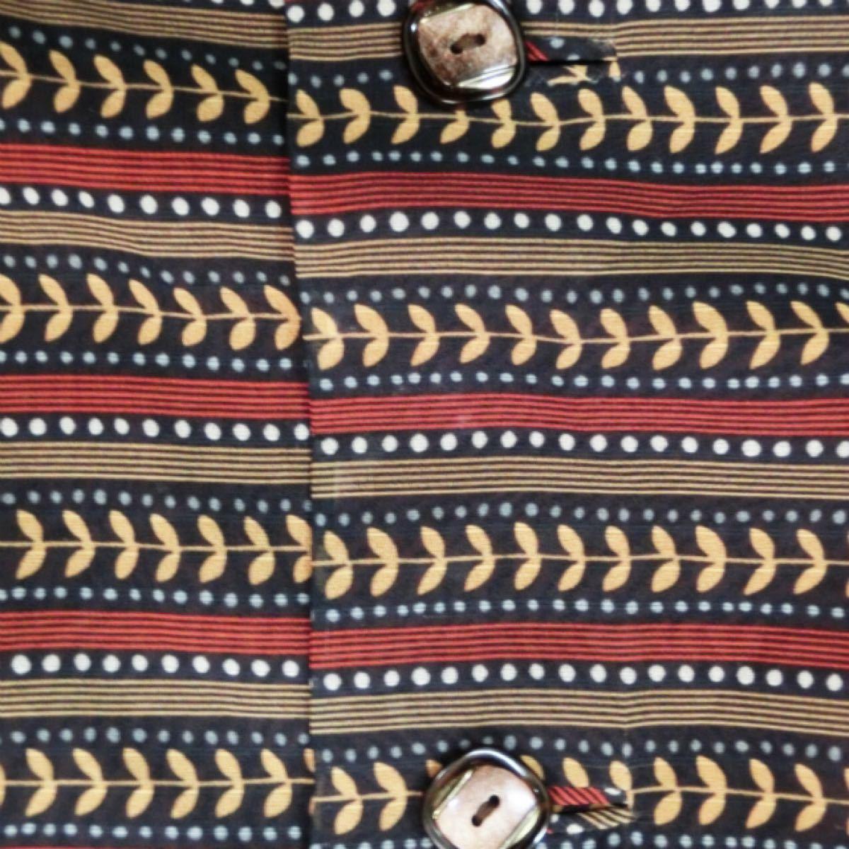 レトロ 古着 ワンピース シック きれいめ 半袖 リボン ボウタイ 1-55