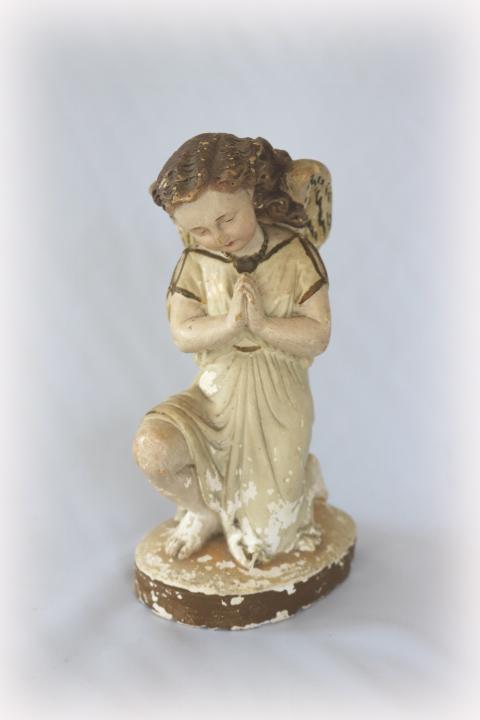 ■ ニーリング・エンジェル/お祈り天使、のアンティーク石膏像 B ■_画像2