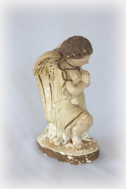 ■ ニーリング・エンジェル/お祈り天使、のアンティーク石膏像 B ■_画像3