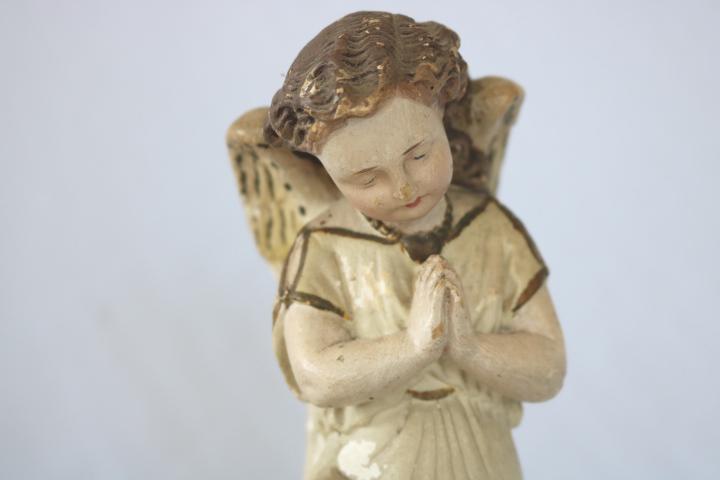 ■ ニーリング・エンジェル/お祈り天使、のアンティーク石膏像 B ■_画像5