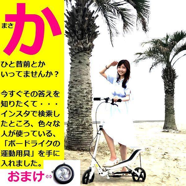 公式■歩道OK■足踏みギア付きスクーター(運動用具)■白色■エクササイズ■BOARDLIKE■ステッパー■スポーツ■ダイエット■ボードライク_画像1