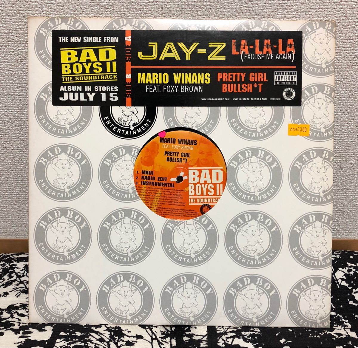 Bad Boys II Jay-Z Lalala バッドボーイズ ジェイジー 12inch レコード 激レア 廃盤 ヒップホップ アルバム クラブ ダンス_画像1