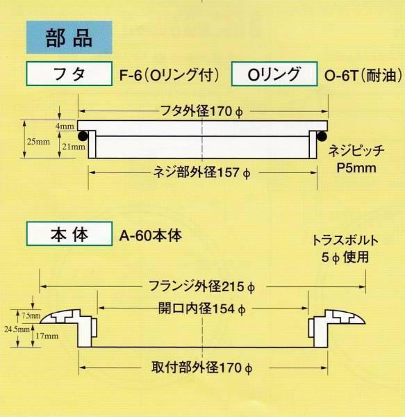 イケダ式スカッパー デッキ用 A-60用フタ「F-6」_画像3