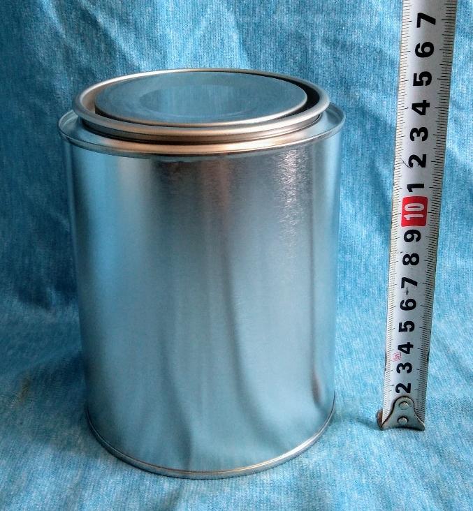 各種小分け 詰め替え保存容器 ブリキ空缶 1L/1000ml 丸缶 シングル缶 持ち手なし_画像1