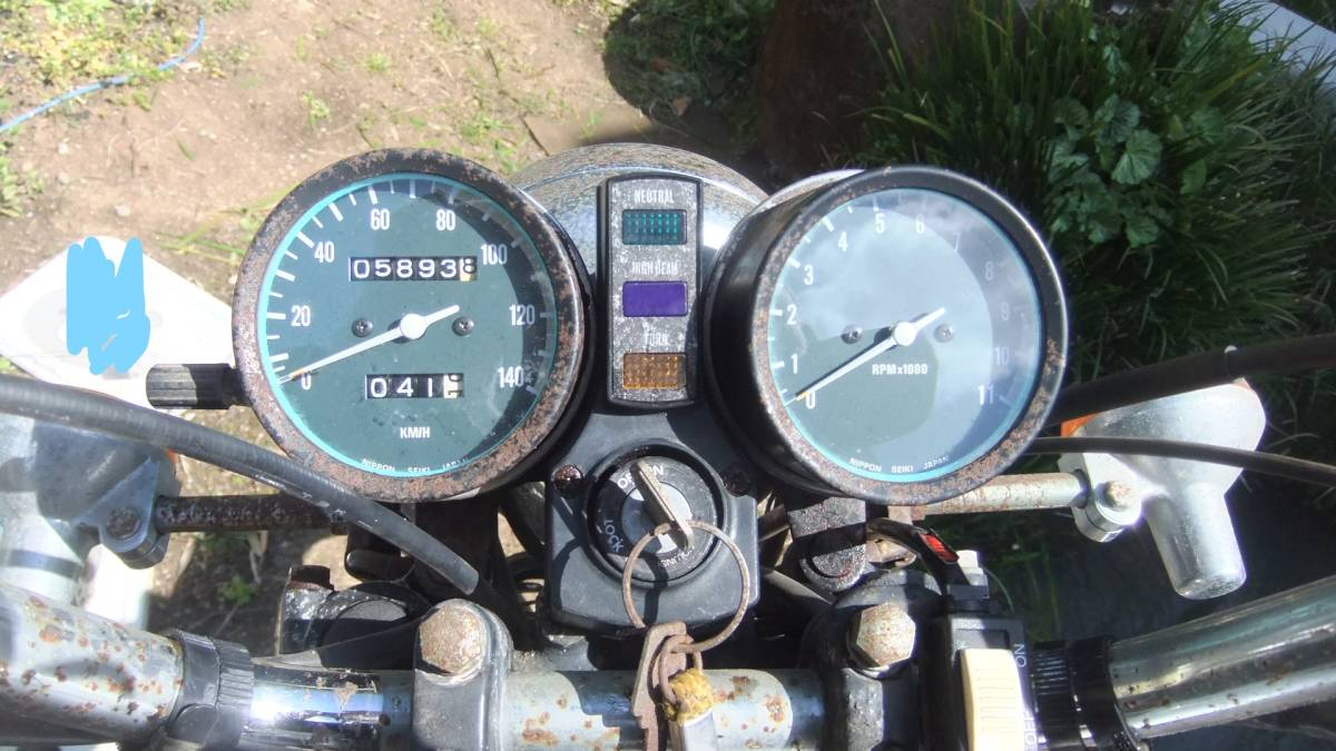 「名車 希少部品装備 カワサキ Z250LTD レトロ 当時物ガード類装備 全国発送可」の画像2