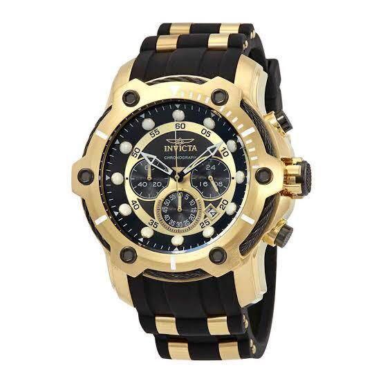 定価8万☆Invicta(インビクタ) 25076 腕時計プロダイバーコンバット 18Kイエローゴールド クロノグラフウォッチ 海外限定逆輸入