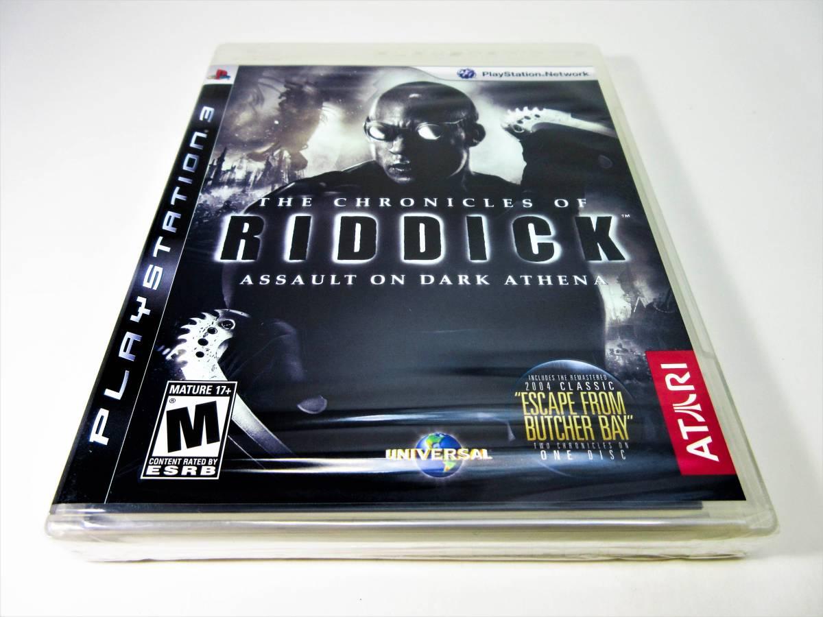 【新品未開封】【日本未発売 北米版 PS3】The Chronicles of Riddick: Assault on Dark Athena【オリジナル版】国内PS3本体で動作可 Atari_画像1