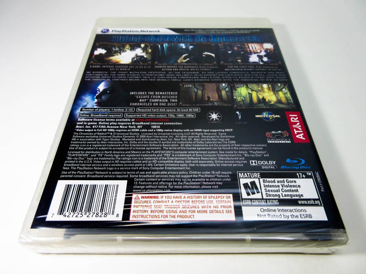 【新品未開封】【日本未発売 北米版 PS3】The Chronicles of Riddick: Assault on Dark Athena【オリジナル版】国内PS3本体で動作可 Atari_画像2