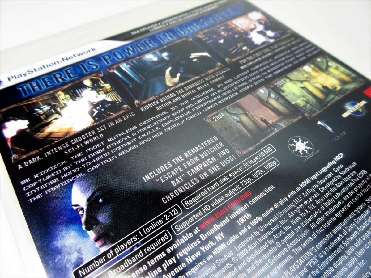【新品未開封】【日本未発売 北米版 PS3】The Chronicles of Riddick: Assault on Dark Athena【オリジナル版】国内PS3本体で動作可 Atari_画像9