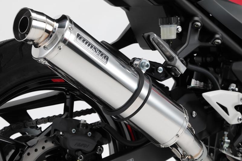 新品 BEAMS R-EVO スリップオン ステンレスサイレンサー 政府認証  Ninja250 / Z250 2018~ (2BK-EX250P)  G430-53-P3J_画像1