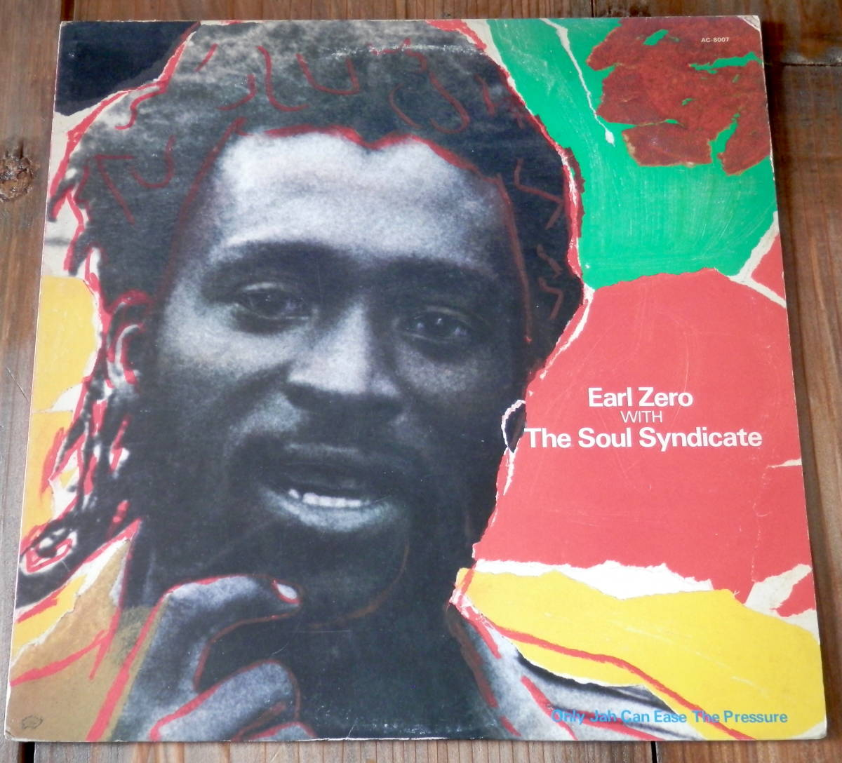 国内'84【LP】Earl Zero with The Soul Syndicate/Only Jah Can Ease The Pressure_画像1