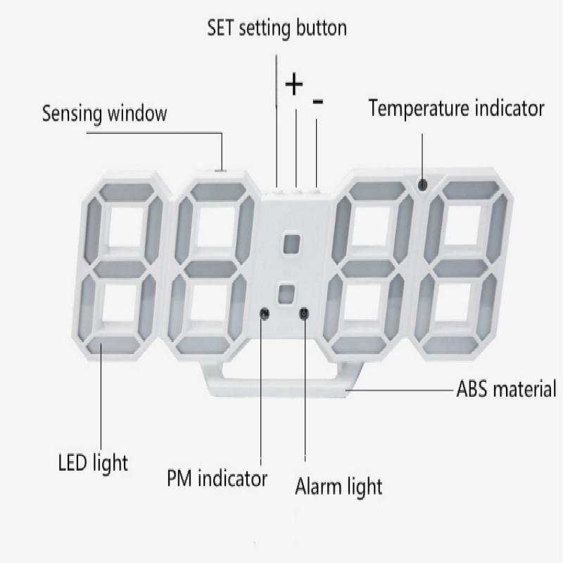 ★送料無料★ インテリア 壁掛け時計 デジタル ウォールクロック LED Digital Numbers Wall Clock インテリア_画像5