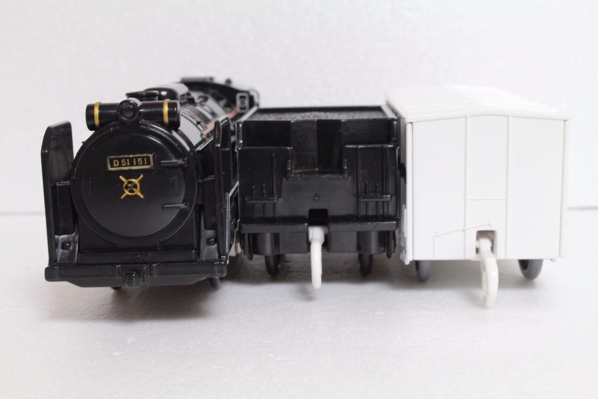 プラレール ライト付 D51 151号機 蒸気機関車 レム5000 中古 清掃済 動作確認済 即決_画像2