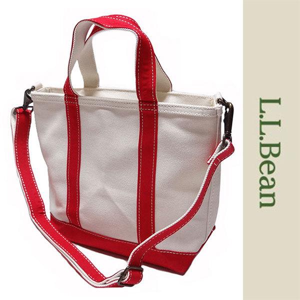 新品 LLBean TOTE BAG トート バッグ エルエルビーン キャンバス レッド オフホワイト 手さげ かばん 日本限定 アウトドア S 正規品_画像1
