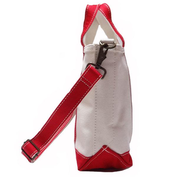 新品 LLBean TOTE BAG トート バッグ エルエルビーン キャンバス レッド オフホワイト 手さげ かばん 日本限定 アウトドア S 正規品_画像3