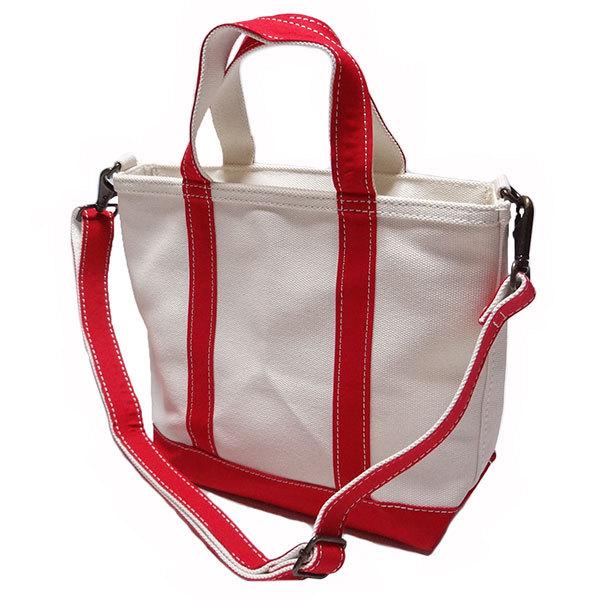 新品 LLBean TOTE BAG トート バッグ エルエルビーン キャンバス レッド オフホワイト 手さげ かばん 日本限定 アウトドア S 正規品_画像2