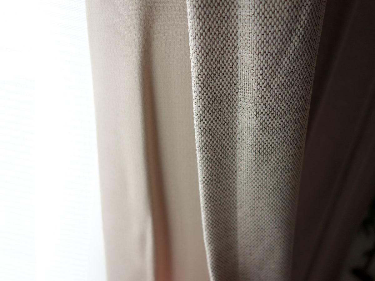 【1枚】防炎 2級遮光 形状記憶 ドレープカーテン ベージュ☆幅200×丈178cm☆Nicola-200-178BE ユニベール_画像2