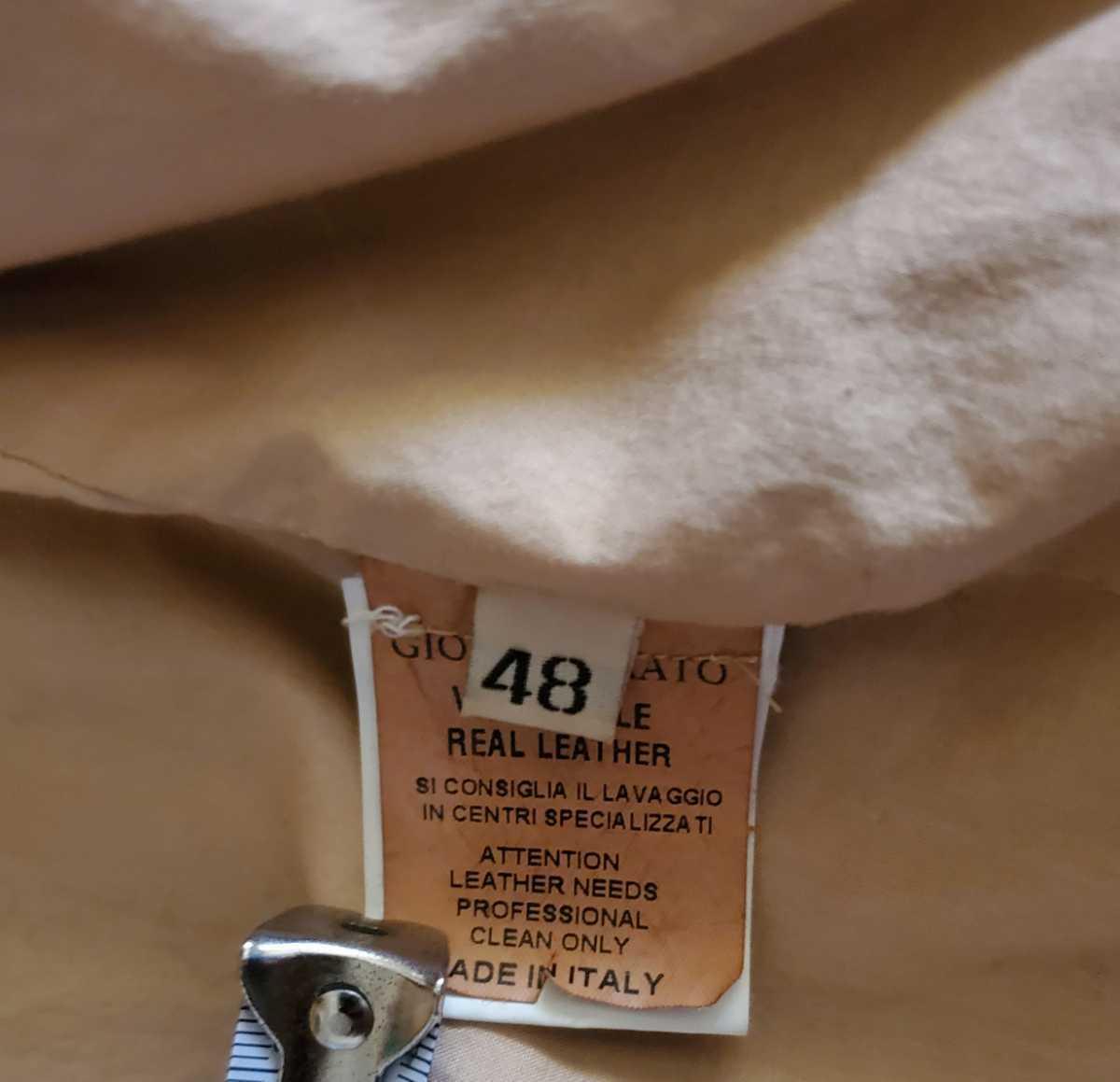 GIORGIO BRATOレザージャケット BEAMSビームス購入48 LかXL_画像5