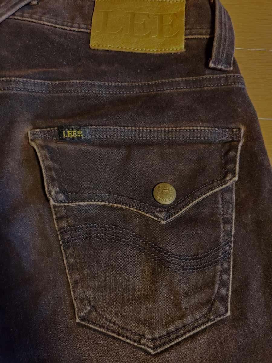 LEE リー3511 ストレッチ デニム 濃茶 32サイズ スリムなブーツカット_画像6