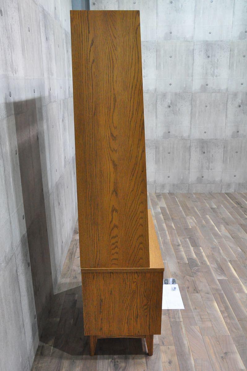 K4X 短期展示品 unico ウニコ SIGNE シグネ トールシェルフ ブラウン 9.7万 オーク 北欧スタイル ブックシェルフ 飾り棚 リビングボード_画像4