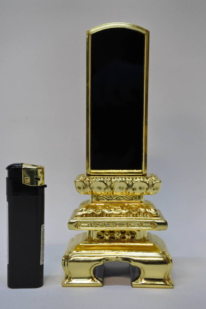 【長期展示品/未使用品】位牌 純金箔 状態良好 仏壇 仏具(200329た11) _画像1