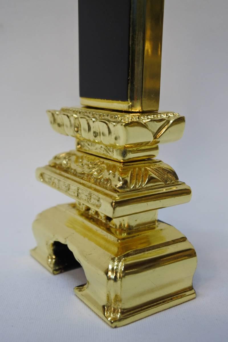 【長期展示品/未使用品】位牌 純金箔 状態良好 仏壇 仏具(200329た11) _画像6