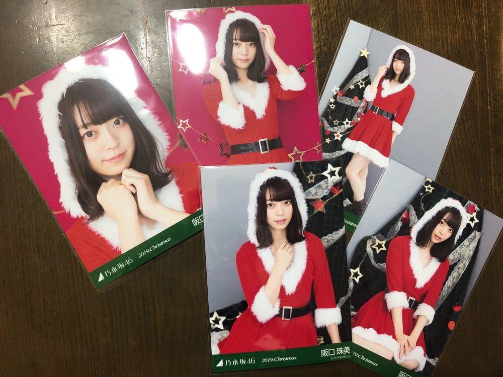 乃木坂46 阪口珠美 2019 Christmas クリスマス サンタ 個別 生写真 五種 コンプ