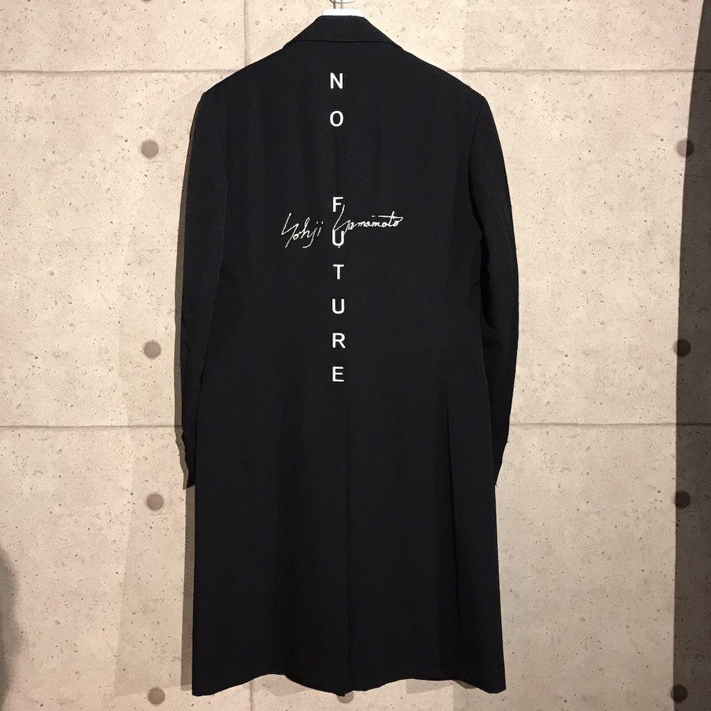 ONtheCORNER ITEM No.165/YohjiYamamoto ヨウジヤマモト NO FUTURE ドクターコート 20ss size:3 ノーフューチャー ロゴ 新品未使用_画像1