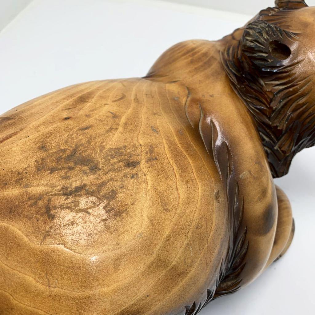 半沢作 北海道 屈斜路湖 木彫りの熊 390mm×205mm× 高さ約195mm_画像4