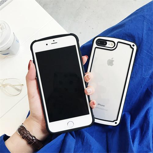 【送料無料】【ブラック iphone7/8】iphoneケース シンプル バイカラー カラーフレーム 防塵 保護 フィット感 滑らない zvpa 595_画像4