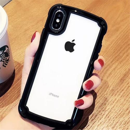 【送料無料】【ブラック iphone7/8】iphoneケース シンプル バイカラー カラーフレーム 防塵 保護 フィット感 滑らない zvpa 595_画像1