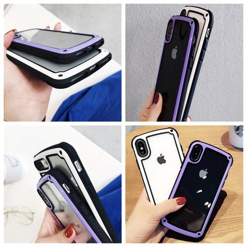 【送料無料】【ブラック iphone7/8】iphoneケース シンプル バイカラー カラーフレーム 防塵 保護 フィット感 滑らない zvpa 595_画像7