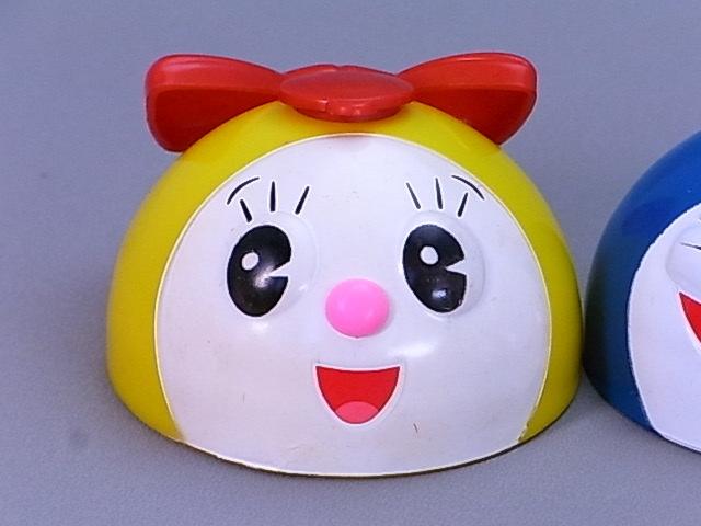#45-9【日本栄養食品】ドラえもん・ドラミちゃん・8ちゃんのふりかけ容器のふた3個セット_画像2