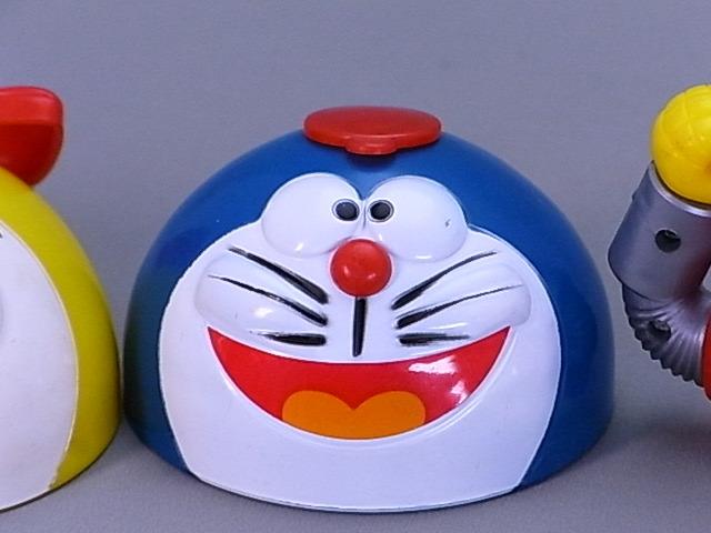 #45-9【日本栄養食品】ドラえもん・ドラミちゃん・8ちゃんのふりかけ容器のふた3個セット_画像3