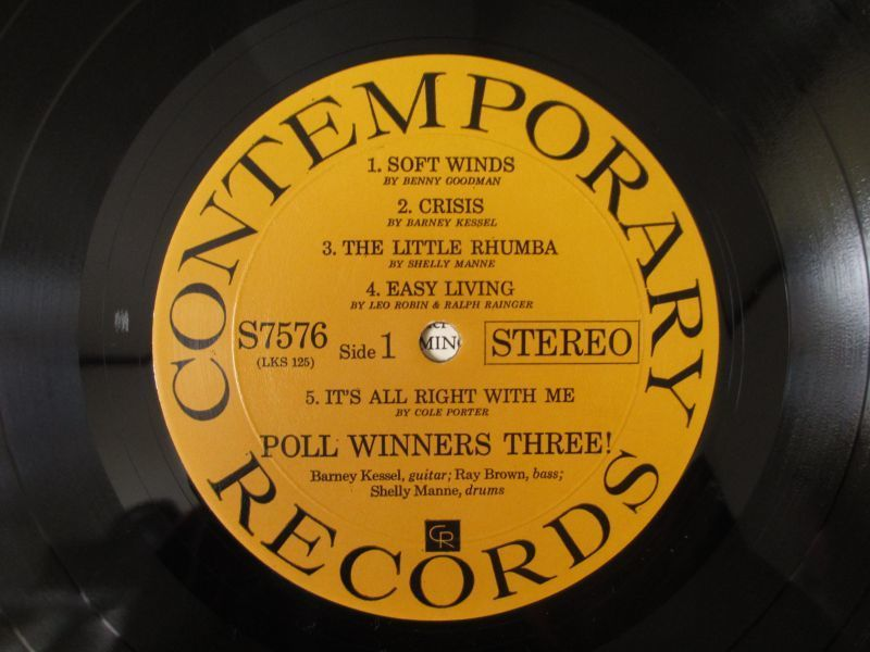 Barney Kessel, Shelly Manne & Ray Brown / Poll Winners Three![Contemporary Records / S7576_画像3