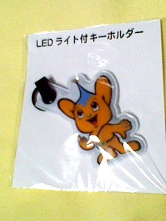 ピーポくん LEDライト付き キーホルダー ピーポ君 LED ライト付 キーホルダー 非売品 警察 警視庁 新品_画像1