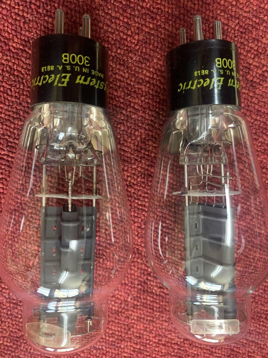 [▲ジャンク扱い 真空管2個 綺麗]Western Electric 300B_画像6