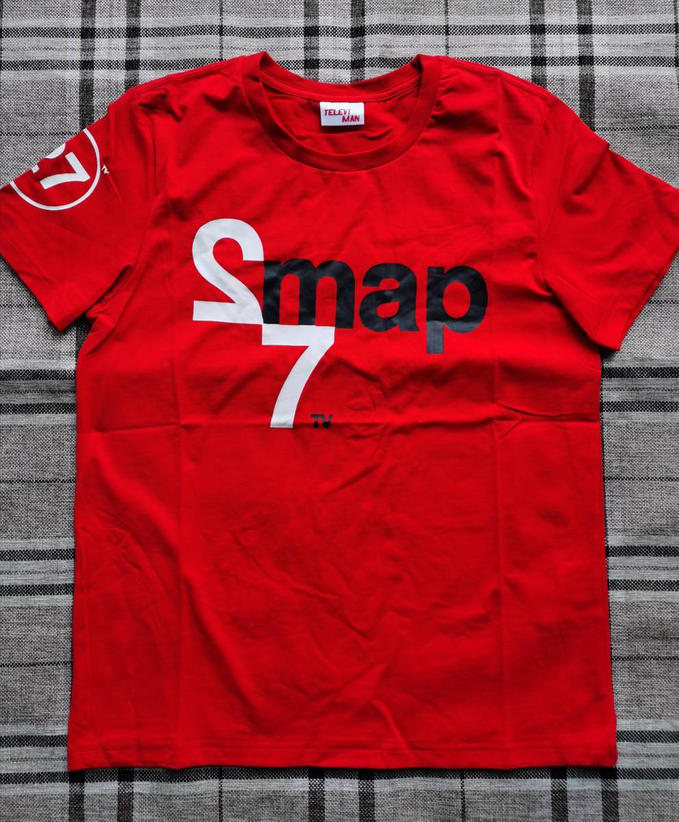 SMAP 27-hour TV non-stop live limited edition T-shirt red M