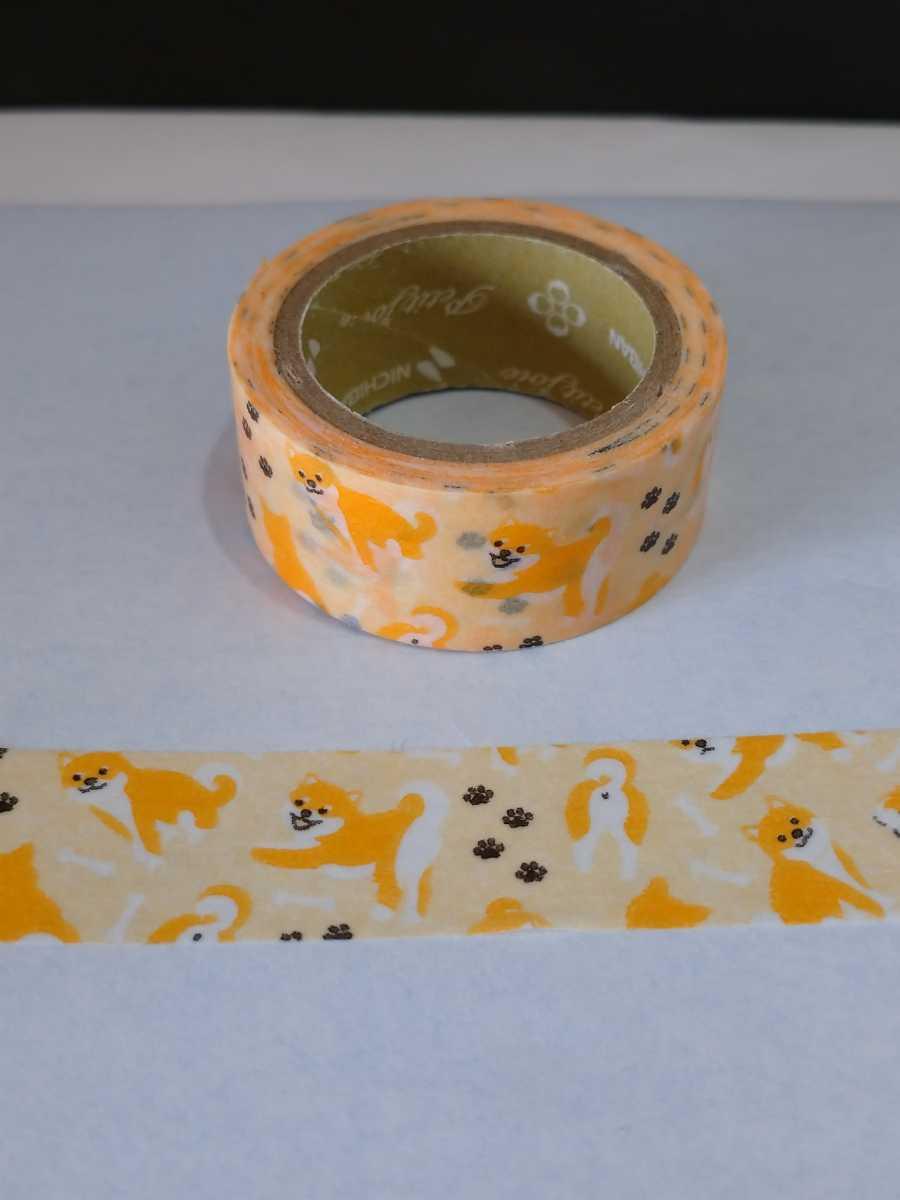 マスキングテープ ふわり 「おかめ」 と、おまけに柴犬のマステ_画像3
