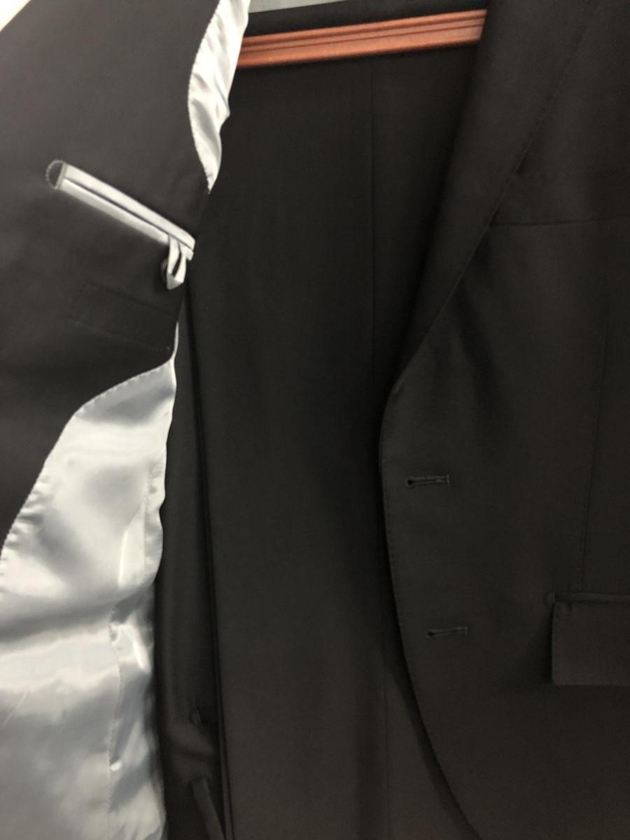 送料無料! アウトレット商品 シングル礼服 A4 オールシーズン着用可能 フォーマル アジャスター無し(ウエスト調整無し)ノータック_画像2