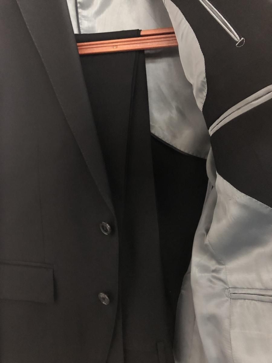 送料無料! アウトレット商品 シングル礼服 A4 オールシーズン着用可能 フォーマル アジャスター無し(ウエスト調整無し)ノータック_画像3