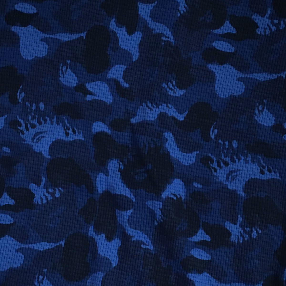 ★激レア★ Fire camo パーカー Mサイズ a bathing ape bape hoodie エイプ ベイプ アベイシングエイプ ファイヤーカモ blue ブルー 迷彩_画像4
