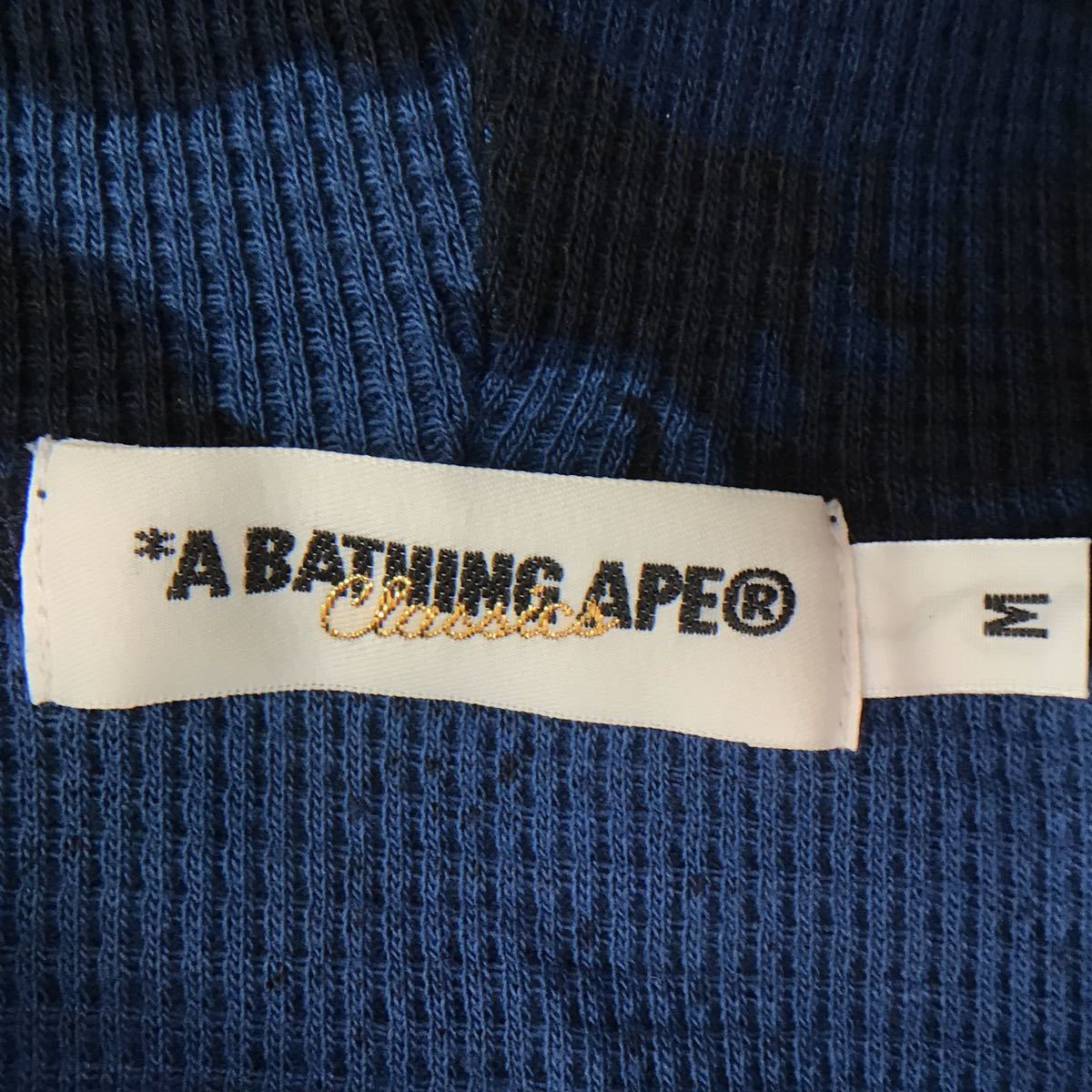 ★激レア★ Fire camo パーカー Mサイズ a bathing ape bape hoodie エイプ ベイプ アベイシングエイプ ファイヤーカモ blue ブルー 迷彩_画像5