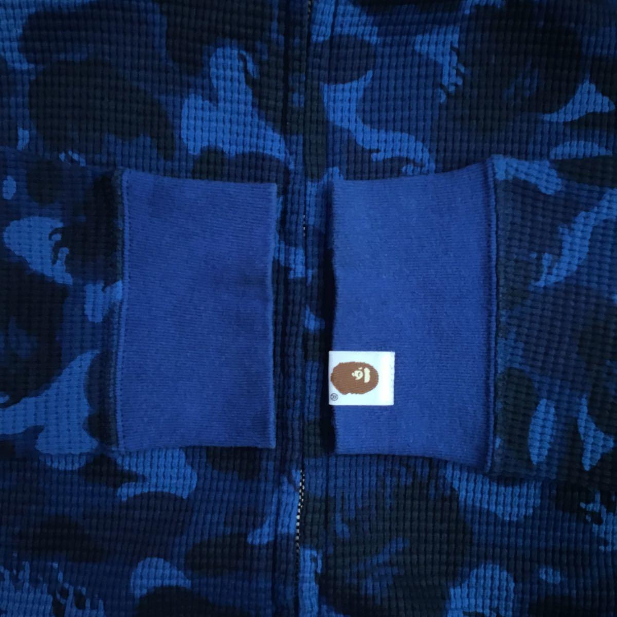 ★激レア★ Fire camo パーカー Mサイズ a bathing ape bape hoodie エイプ ベイプ アベイシングエイプ ファイヤーカモ blue ブルー 迷彩_画像2