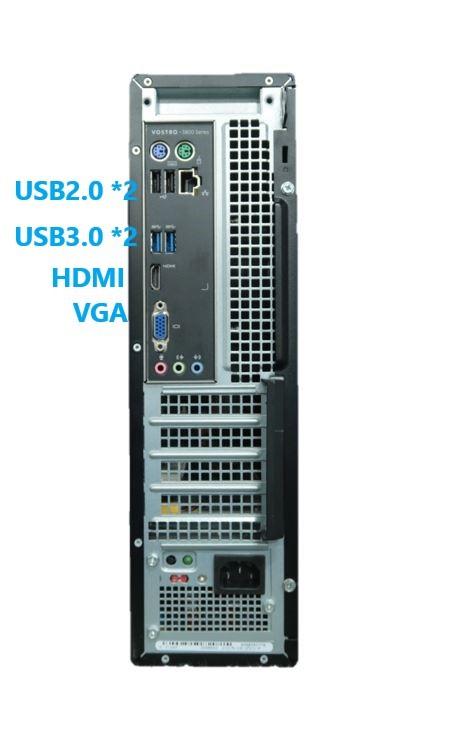 驚速 スリムタワー■Core i7-4790 4.0GHz x8/メモリ16GB■新SSD:480GB+HDD:2TB Win10 Office2019 USB3.0/HDMI/追加-無線LAN■VOSTRO 3800-4_画像3