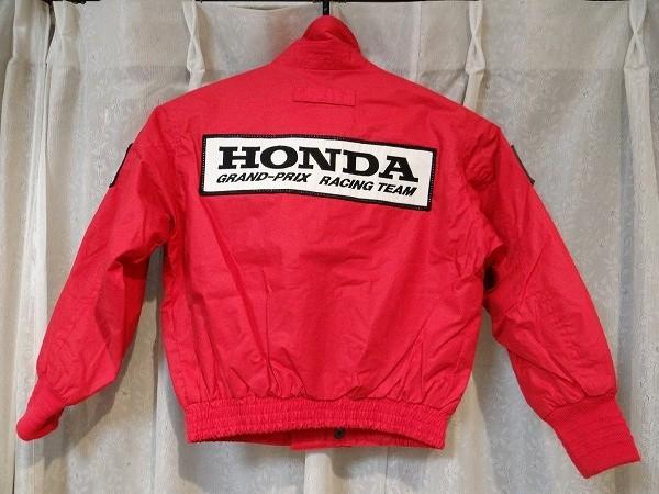 80年代 ビンテージ HONDA GRAND-PRIX RACING TEAM ジャンバー 旧車 F-1 NSX レーシング メカニック セナ キッズ 子供用 90cm 当時物_画像2