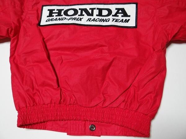 80年代 ビンテージ HONDA GRAND-PRIX RACING TEAM ジャンバー 旧車 F-1 NSX レーシング メカニック セナ キッズ 子供用 90cm 当時物_画像7