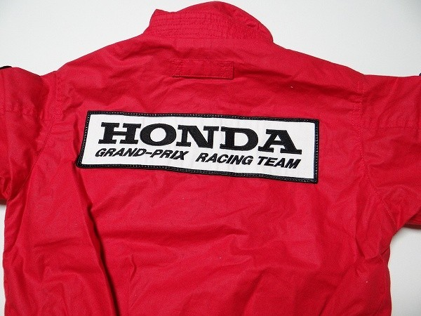 80年代 ビンテージ HONDA GRAND-PRIX RACING TEAM ジャンバー 旧車 F-1 NSX レーシング メカニック セナ キッズ 子供用 90cm 当時物_画像6